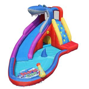 Happy Hop Sharks Club Bouncer / Bouncy Castle with Slide