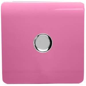 Trendi Switch 1 Gang 120 Watt LED Dimmer Switch in Pink
