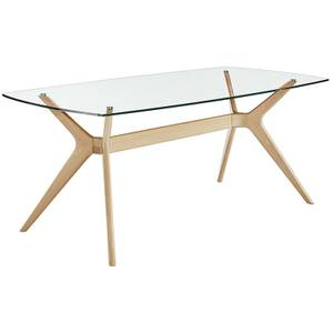 Riga Glass Top Dining Table