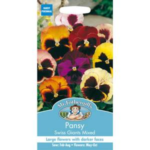 Pansy Swiss Giants Mixed (Viola X Wittrockina) Seeds
