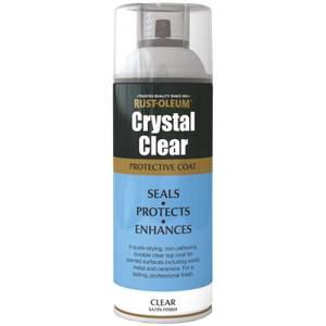 Rust-Oleum Semi Gloss Spray Paint - Crystal Clear - 400ml