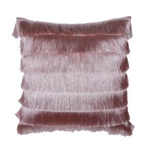 Fringed Cushion - Blush