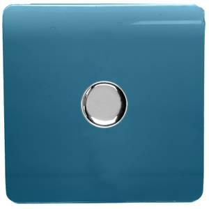 Trendi Switch 1 Gang 120 Watt LED Dimmer Switch in Ocean Blue