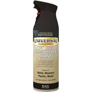 Rust-Oleum Universal Matt Spray Paint - Black - 400ml
