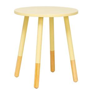 Lino Pastel Table - Lemon