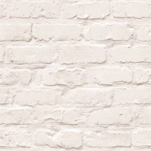 Grandeco White Brick Wallpaper