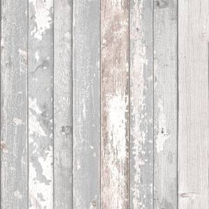 Grandeco Wood Panel Blush Wallpaper