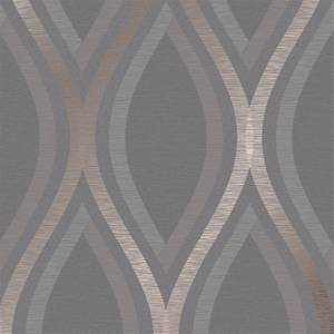 Grandeco Strata Charcoal Wallpaper