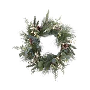 White Berries Eucalyptus Christmas Wreath - 50cm