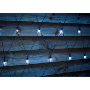 3 x 2m Timer LED Outdoor Net Light - Bright White (Battery Operated)