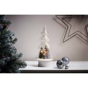 Glass Light Up Christmas Tree Ornamental Decoration (Battery Operated)