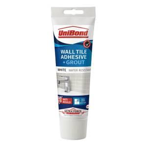 UniBond UltraForce Wall Tile Adhesive & Grout Tube White 0.3kg