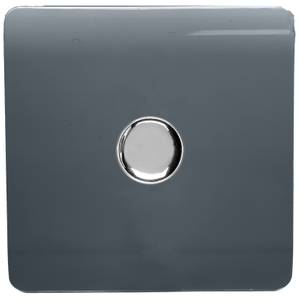 Trendi Switch 1 Gang 120 Watt LED Dimmer Switch in Warm Grey