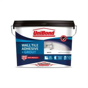 UniBond UltraForce Wall Tile Adhesive & Grout White 12.8kg