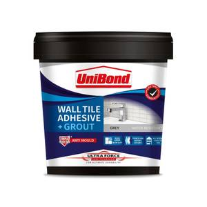 UniBond UltraForce Wall Tile Adhesive & Grout Grey 1.38kg