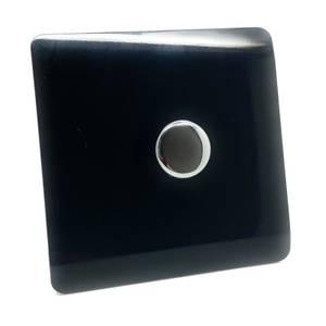 Trendi Switch Single 120 Watt LED Dimmer in Black