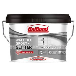 UniBond UltraForce Wall Tile Grout Grey Glitter 3.2kg