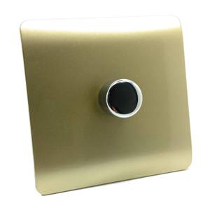 Trendi Switch Single 120 Watt LED Dimmer in Gold