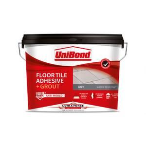 UniBond UltraForce Floor Tile Adhesive & Grout Grey 7.3kg