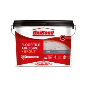 UniBond UltraForce Floor Tile Adhesive & Grout Grey 14.3kg
