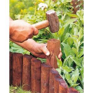 Wooden Border Log Roll Fixing Peg - 45 x 50 x 50mm