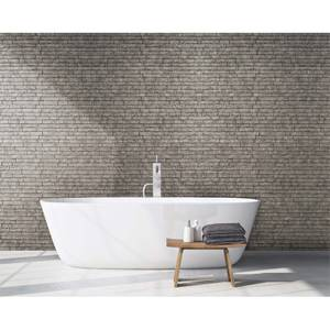 Innovera Decor PVC Seamless 3D Design Cladding Panel (Ledge Stone - Portland Cement, Set of 6)