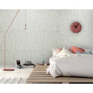 Innovera Decor PVC Seamless 3D Design Cladding Panel (Ledge Stone - White, Set of 6)