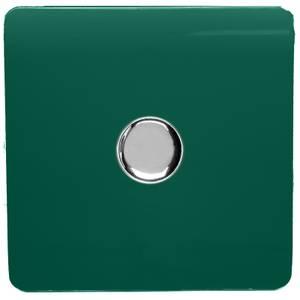 Trendi Switch 1 Gang 120 Watt LED Dimmer Switch in Dark Green