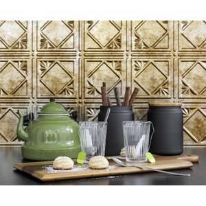Innovera Decor 3D Design Wall Tile - Kitchen Splashback Cladding Panels (Art Nouveau - Bermuda Bronze,Set of 6)