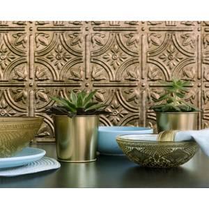 Innovera Decor 3D Design Wall Tile - Kitchen Splashback Cladding Panels  ( Empire - Bermuda Bronze, Set of 6)