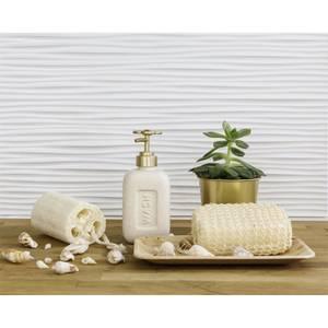 Innovera Decor 3D Design Wall Tile - Kitchen Splashback Cladding Panels  (Wilderness - White, set of 6)