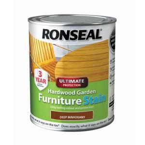Ronseal Hardwood Garden Furniture Stain Deep Mahogany - 750ml