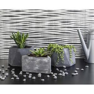 Innovera Decor 3D Design Wall Tile - Kitchen Splashback Cladding Panels  (Wilderness - Silver, set of 6)