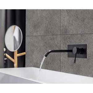 Innovera Decor Decorative Shower & Bathroom Wall Tiles (Urban Cement Dark Grey, Set of 8)