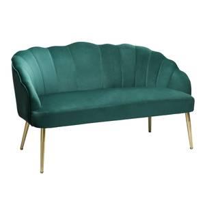 Sophia Scallop Occasional Sofa - Emerald