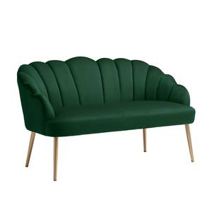 Sophia Scallop Occasional Sofa - Emerald