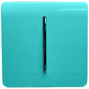 Trendi Switch 1 Gang 2 Way 10Amp Light Switch in Bright Teal