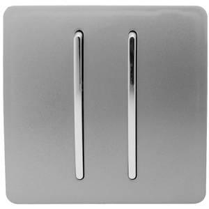 Trendi Switch 2 Gang 2 Way 10Amp Light Switch in Light Grey