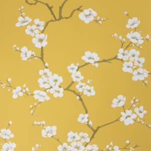 Fresco  Apple Blossom Ochre Wallpaper