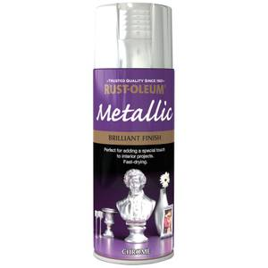 Rust-Oleum Metallic Brilliant Finish - Chrome Spray Paint - 400ml