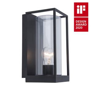 Lutec Flair Flush Outdoor Wall Light In Black