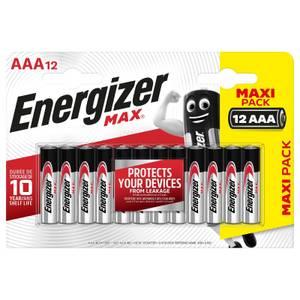 Energizer MAX Alkaline AAA Batteries - 12 Pack