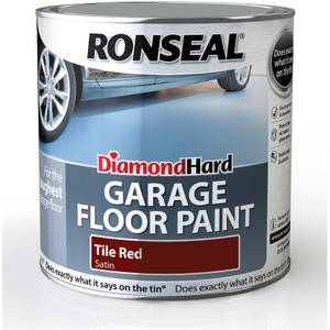 Ronseal Diamond Hard Tile Red - Garage Floor Paint - 2.5L