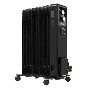 Dimplex 2kW Oil Radiator with 24 hour timer - Black