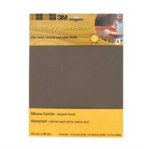 3M Wet or dry 9085CC Sheets P600 - Extra Fine- 4 pack
