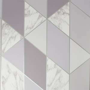 Sublime Marble Geometric Grey Wallpaper
