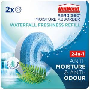 UniBond Aero 360 Waterfall Freshness Refills x2