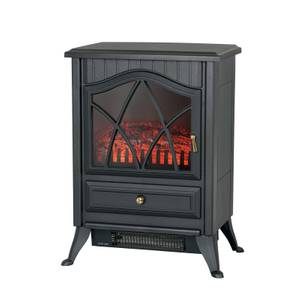 Stylec 1800W Flame Effect Electric Stove Heater - Black