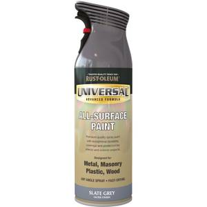 Rust-Oleum Universal Gloss Spray Paint - Slate Grey - 400ml