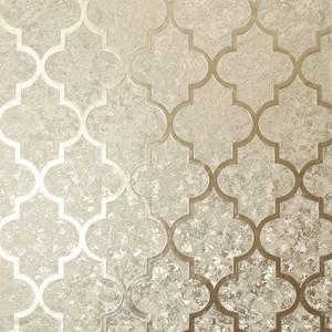 Arthouse Velvet Trellis Champagne Wallpaper
